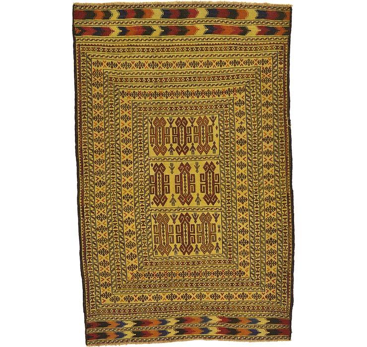 4' 2 x 6' 6 Kilim Afghan Rug
