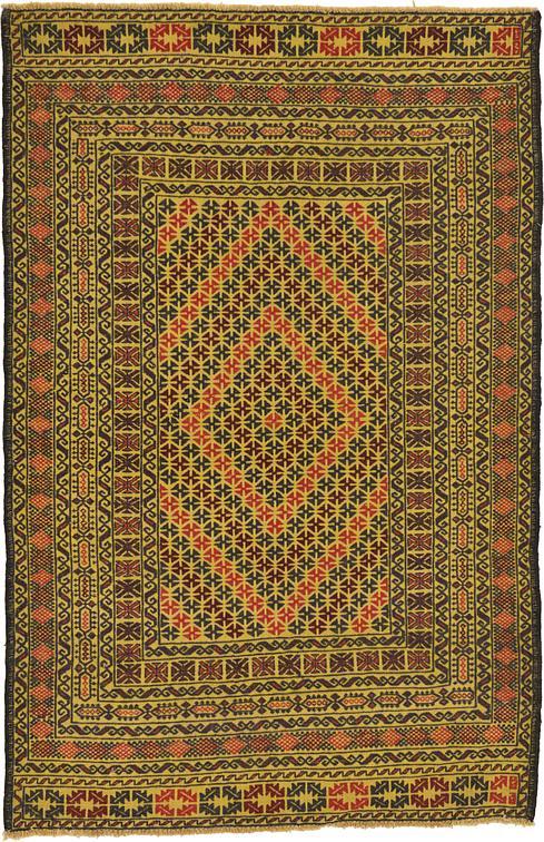 Gold 4 X 6 2 Kilim Afghan Rug Area Rugs Esalerugs