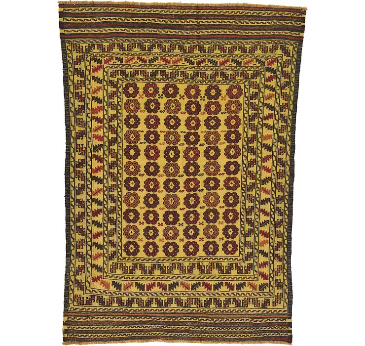 127cm x 175cm Kilim Afghan Rug