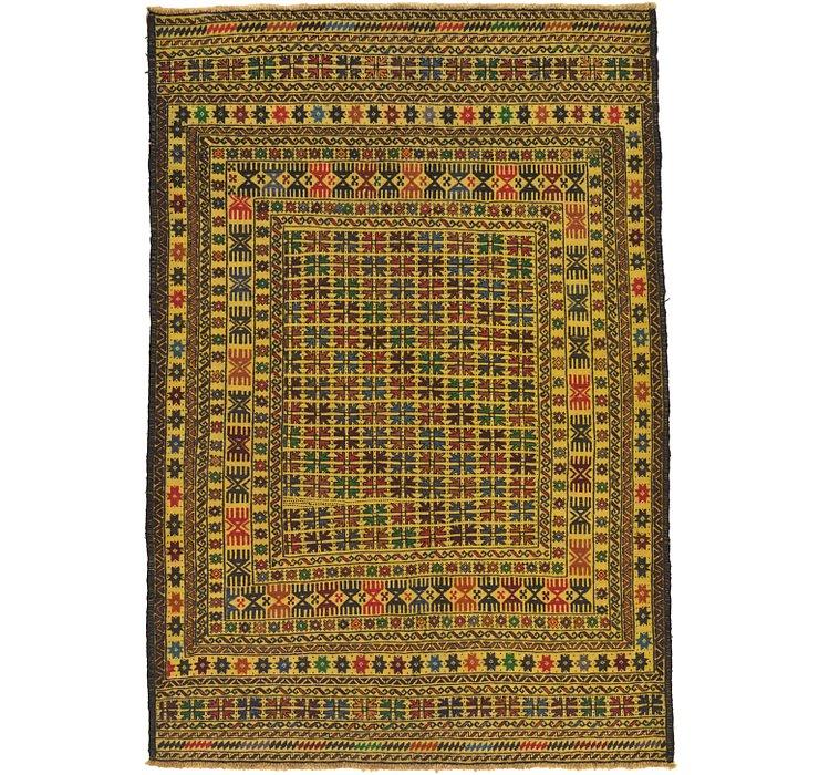 4' 3 x 6' Kilim Afghan Rug