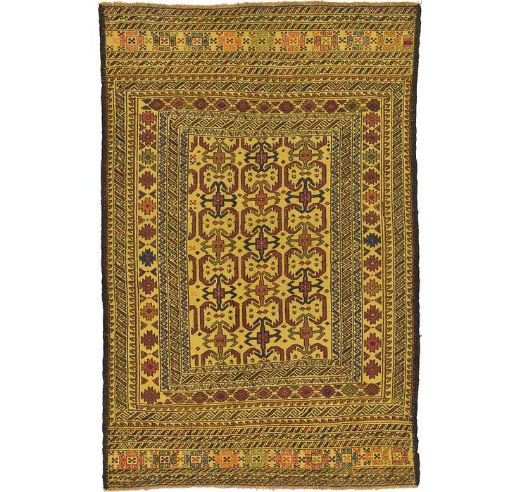 4' 4 x 6' 7 Kilim Afghan Rug