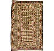 Link to 4' 5 x 6' 7 Kilim Afghan Rug