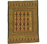 Link to 4' 5 x 6' Kilim Afghan Rug
