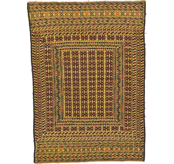 4' 2 x 5' 10 Kilim Afghan Rug