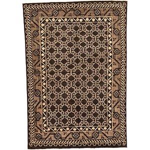 Unique Loom 5' 4 x 7' 8 Khotan Ziegler Oriental...