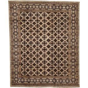 HandKnotted 6' 6 x 8' Khotan Ziegler Oriental...