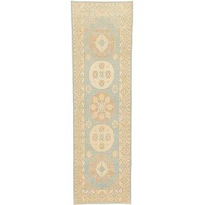 HandKnotted 3' x 9' 7 Khotan Ziegler Oriental...