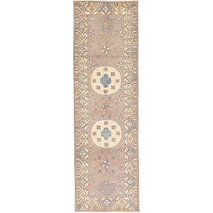 HandKnotted 3' x 9' 9 Khotan Ziegler Oriental...