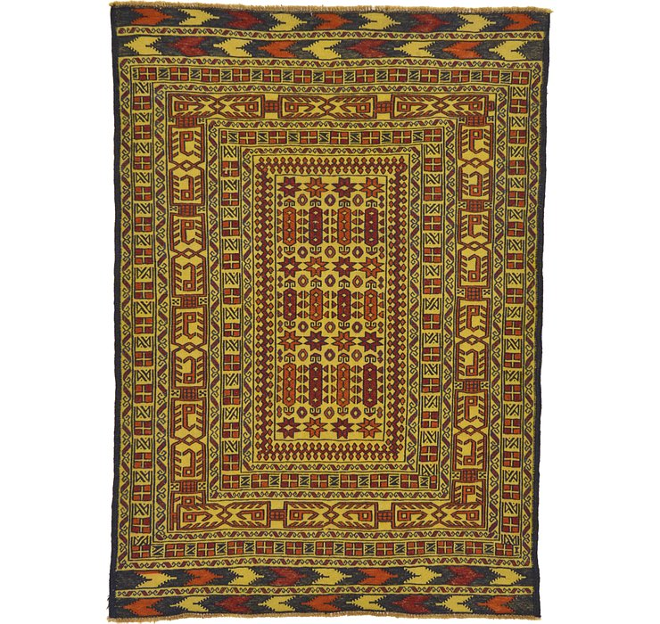 4' 2 x 6' Kilim Afghan Rug