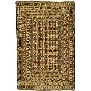 4' 2 x 6' 4 Kilim Afghan Rug