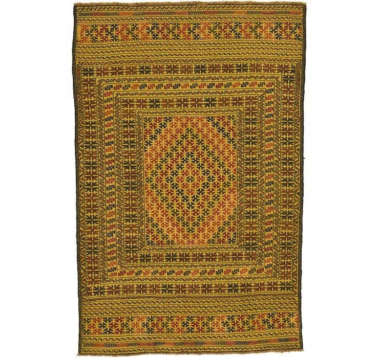 4' 3 x 6' 5 Kilim Afghan Rug