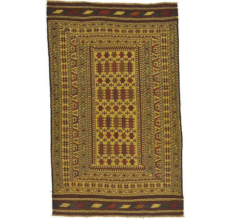 4' 4 x 6' 10 Kilim Afghan Rug
