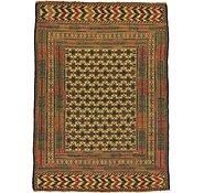 Link to 4' 6 x 6' 2 Kilim Afghan Rug