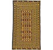 Link to 3' 6 x 6' 3 Kilim Afghan Rug