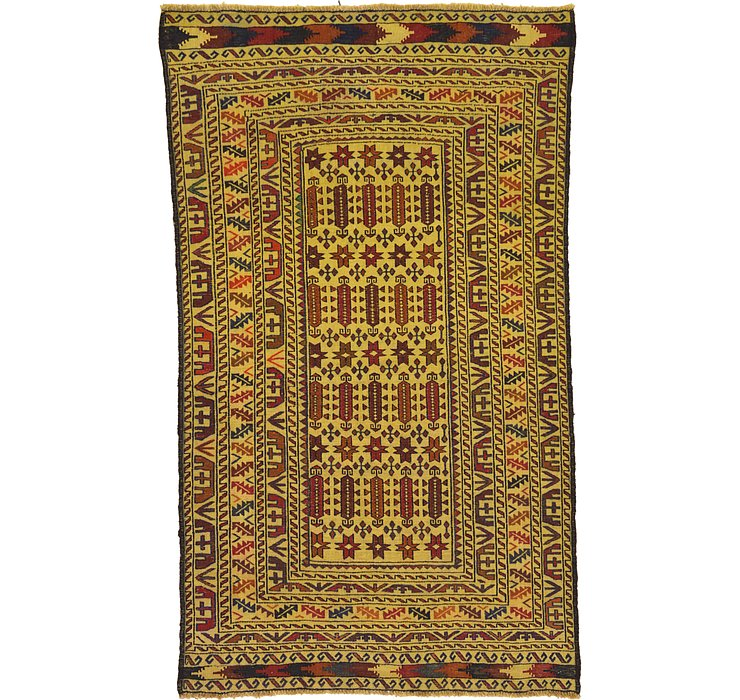 4' x 6' 9 Kilim Afghan Rug