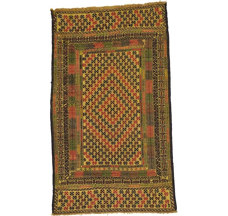 3' 5 x 5' 9 Kilim Afghan Rug