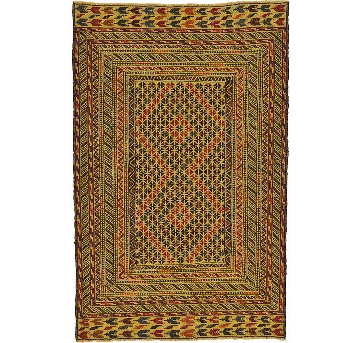 4' 4 x 6' 8 Kilim Afghan Rug