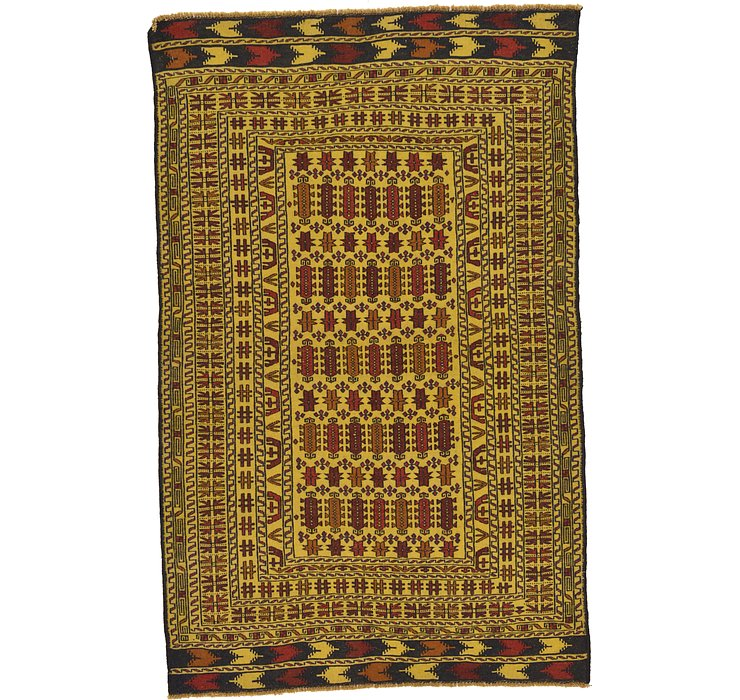 4' 3 x 6' 9 Kilim Afghan Rug