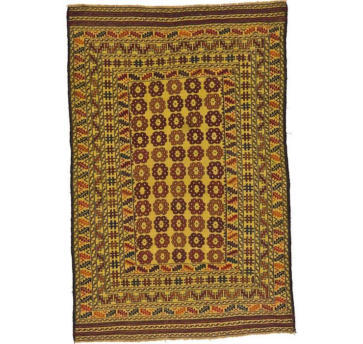 4' 2 x 6' 3 Kilim Afghan Rug