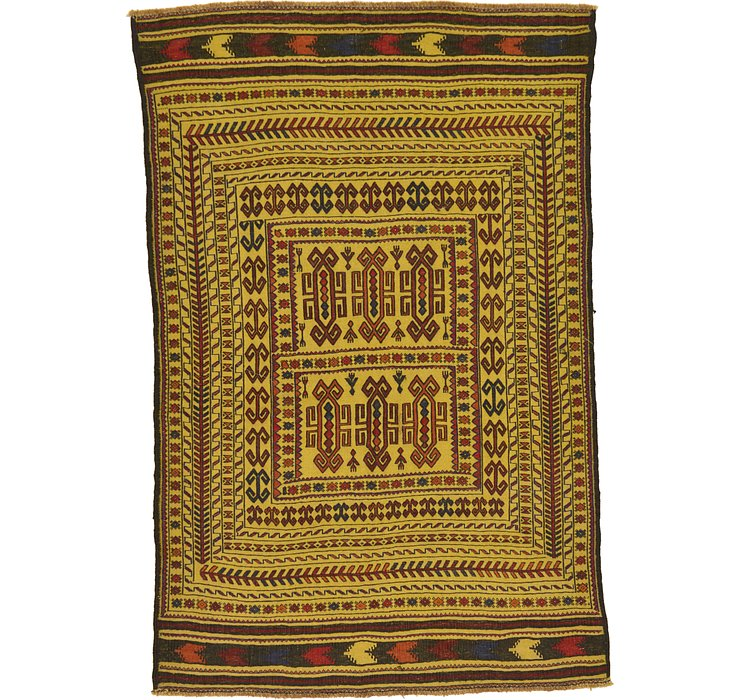 3' 10 x 5' 10 Kilim Afghan Rug