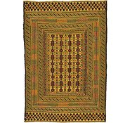 Link to 4' 5 x 6' 5 Kilim Afghan Rug