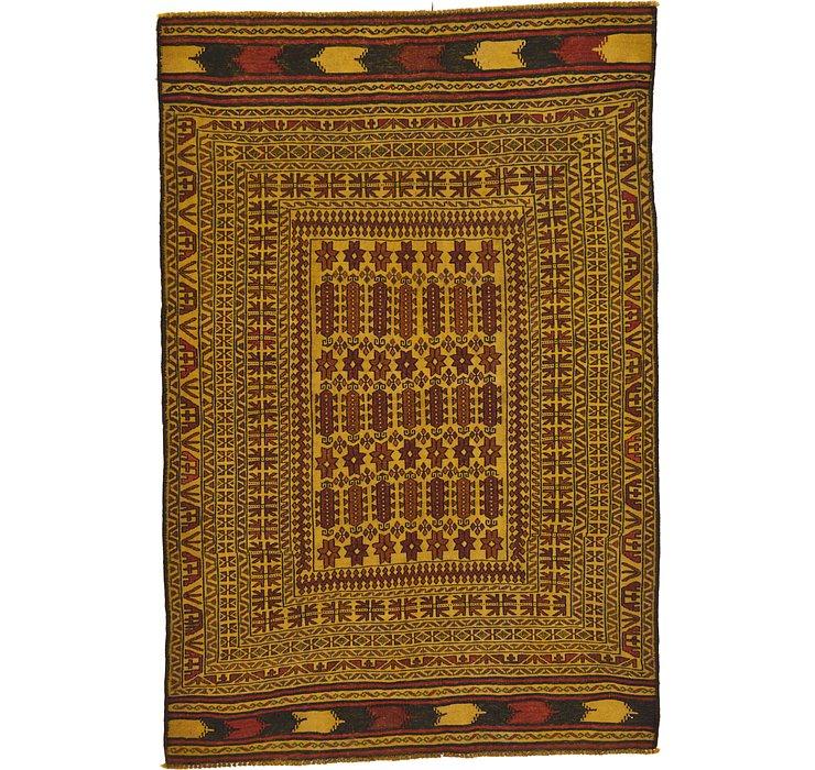 4' 5 x 6' 8 Kilim Afghan Rug
