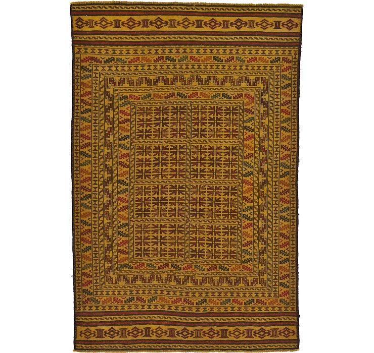 4' x 6' 3 Kilim Afghan Rug