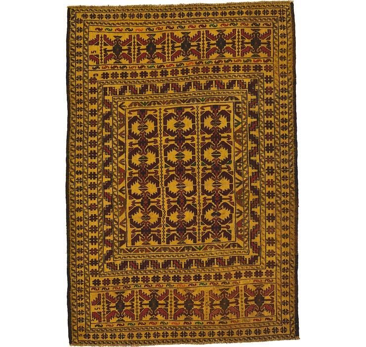 4' 3 x 6' 2 Kilim Afghan Rug