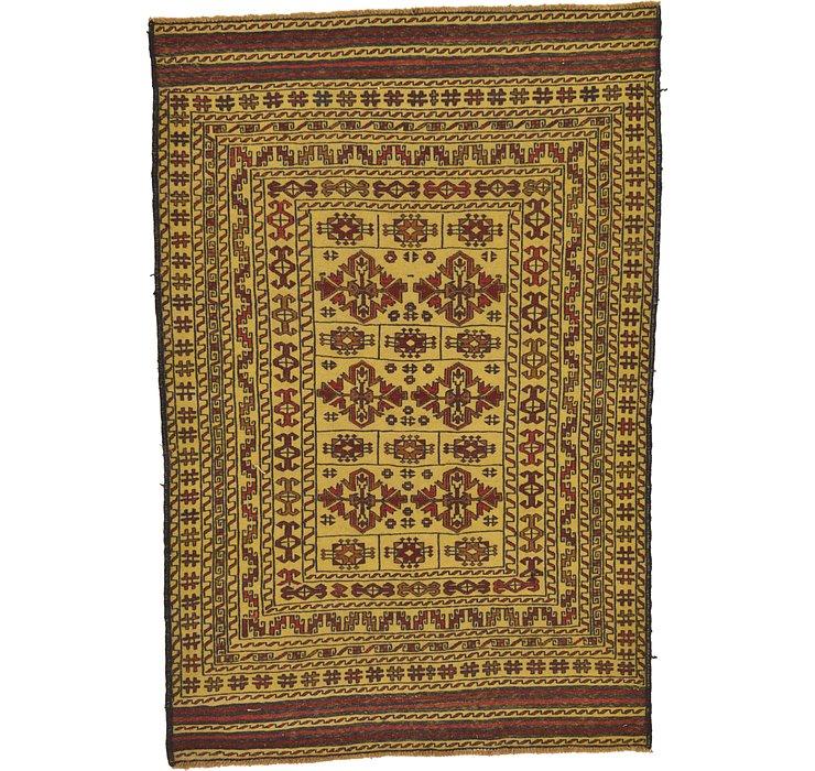 4' 3 x 6' 3 Kilim Afghan Rug