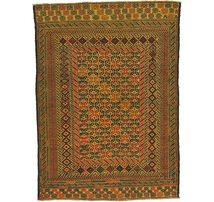 4' 4 x 6' Kilim Afghan Rug