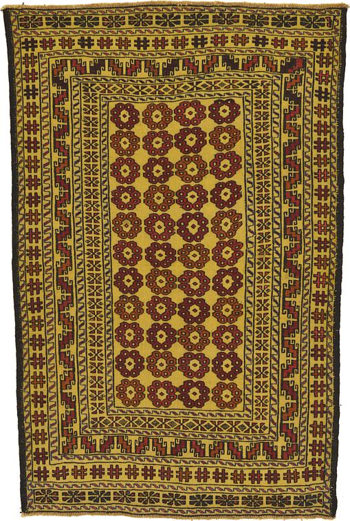Gold 4 X 6 Kilim Afghan Rug Area Rugs Esalerugs