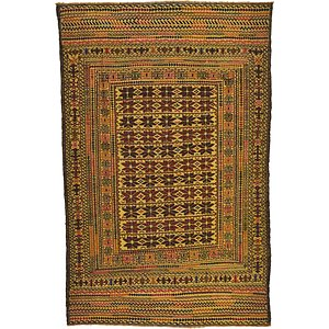 4' 3 x 6' 6 Kilim Afghan Rug