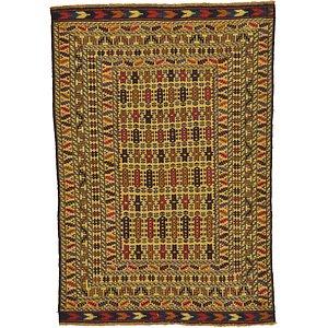 4' 4 x 6' 3 Kilim Afghan Rug