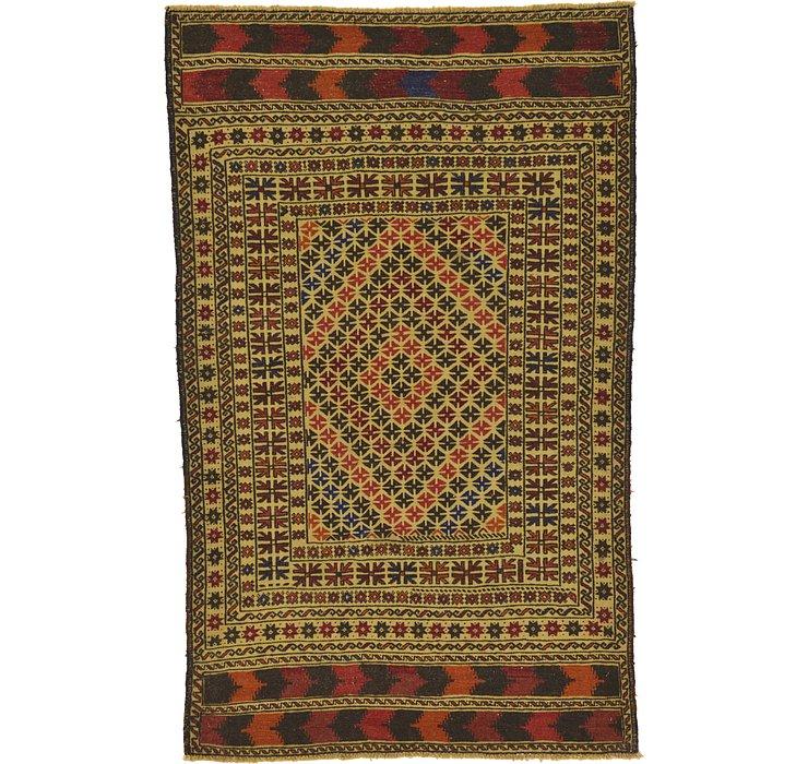 4' x 6' 6 Kilim Afghan Rug