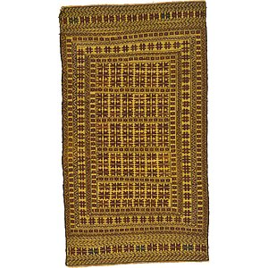 3' 9 x 6' 8 Kilim Afghan Rug