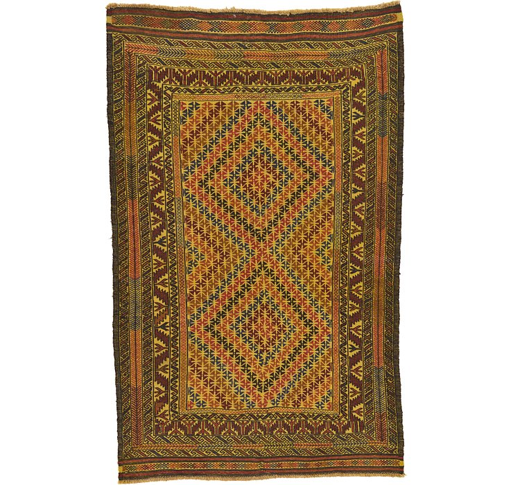 4' 2 x 6' 7 Kilim Afghan Rug