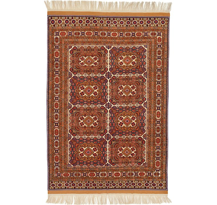 6' 9 x 10' 4 Afghan Mouri Oriental Rug