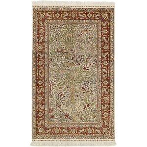 HandKnotted 3' x 5' Hereke Oriental Rug