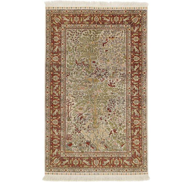 3' x 5' Hereke Oriental Rug