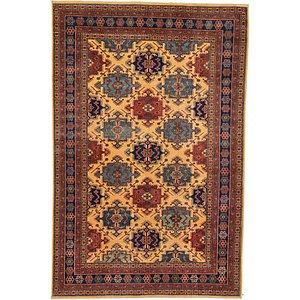 6' x 9' 3 Kazak Oriental Rug
