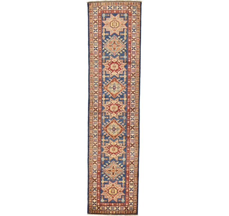 2' 6 x 10' 2 Kazak Oriental Runner Rug