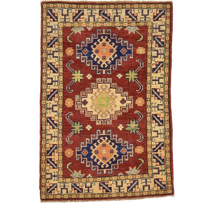 HandKnotted 2' 10 x 4' 2 Kazak Oriental Rug