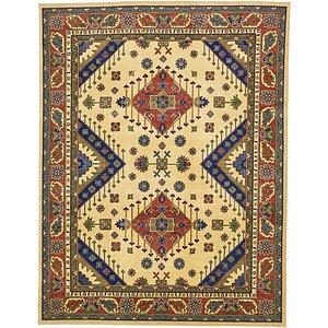 10×13 Beige & Ivory Kazak  Rugs