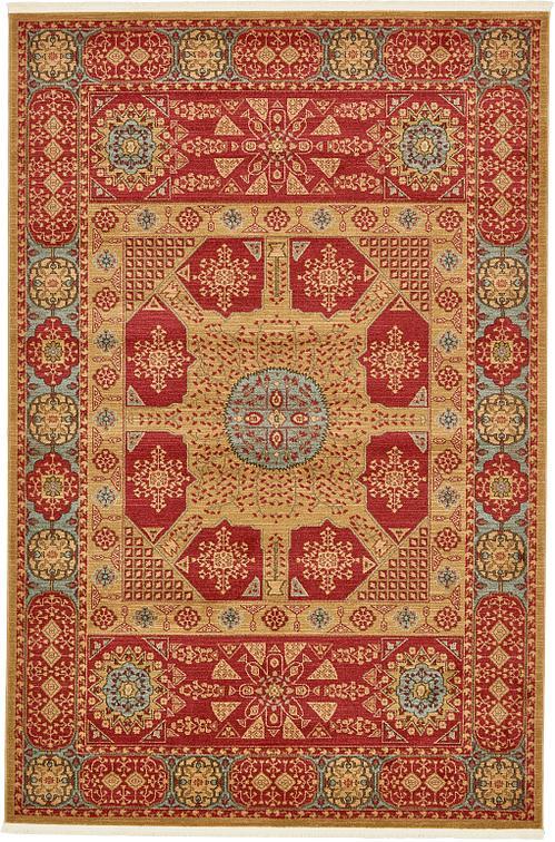 Red 6 7 X 10 Mamluk Rug Area Rugs Esalerugs