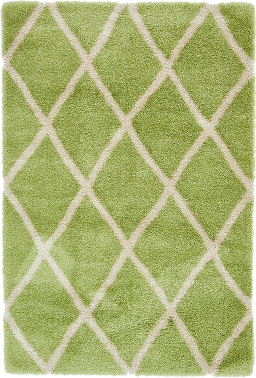 Light Green  6' 8 x 9' 9 Luxe Trellis Shag