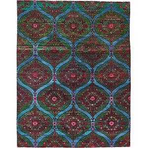 HandKnotted 7' 9 x 10' Sari Rug