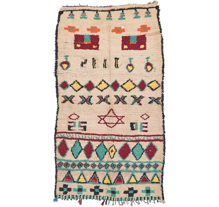 5' 5 x 9' 4 Moroccan Rug