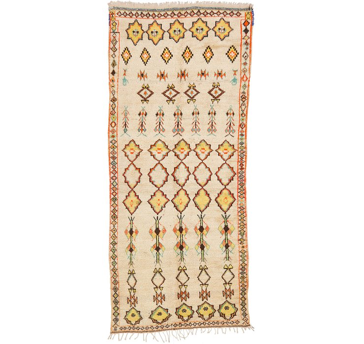 HandKnotted 4' 10 x 10' 10 Moroccan Runner Rug