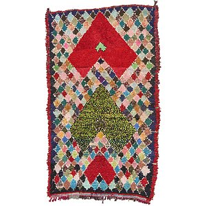 4' 10 x 8' 2 Moroccan Rug