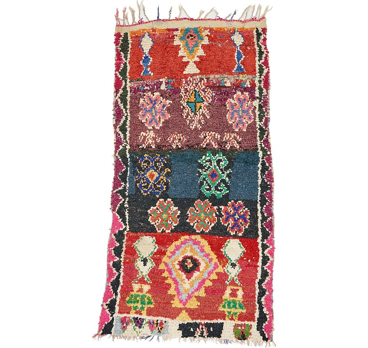 HandKnotted 3' 10 x 7' Moroccan Runner Rug